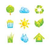 De pictogrammen van Ecologie Stock Foto's