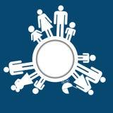 De pictogrammen van familiepictogrammen Stock Foto's