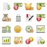 De pictogrammen van financiën. Royalty-vrije Stock Foto