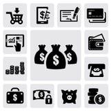 De Pictogrammen van financiën Stock Afbeeldingen