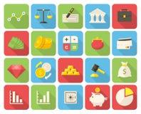 De Pictogrammen van financiën Royalty-vrije Stock Foto's