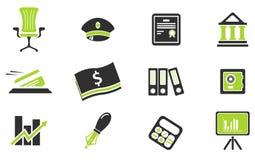 De Pictogrammen van financiën Stock Afbeelding
