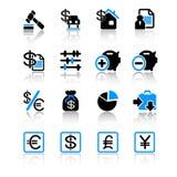 De pictogrammen van financiën royalty-vrije illustratie