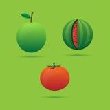 De pictogrammen van fruitgroenten Vector Illustratie
