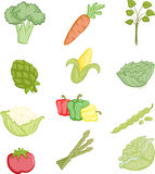 De pictogrammen van groenten Stock Fotografie