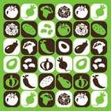 De pictogrammen van groenten Stock Foto