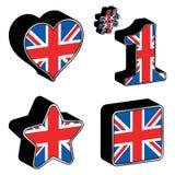 De pictogrammen van Groot-Brittannië Royalty-vrije Stock Foto