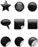 De pictogrammen van Grunge Stock Afbeeldingen