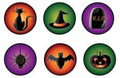De Pictogrammen van Halloween Stock Fotografie