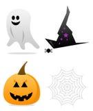 De Pictogrammen van Halloween Royalty-vrije Stock Foto