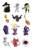 De pictogrammen van Halloween Stock Afbeeldingen