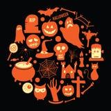 De pictogrammen van Halloween Royalty-vrije Stock Afbeelding