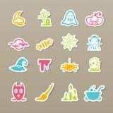De pictogrammen van Halloween Royalty-vrije Stock Fotografie