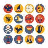 De pictogrammen van Halloween De pictogrammen van Halloween Royalty-vrije Stock Afbeeldingen