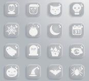 De pictogrammen van Halloween eenvoudig Stock Fotografie