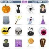 De Pictogrammen van Halloween - Reeks Robico Stock Foto's