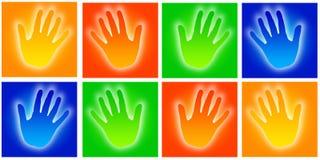 De pictogrammen van handen Royalty-vrije Stock Afbeelding