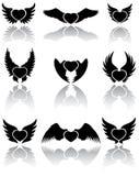 De pictogrammen van harten Royalty-vrije Stock Afbeelding