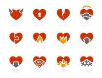 De pictogrammen van harten | De reeks van het Hotel van de zonneschijn Royalty-vrije Stock Afbeelding