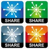 De pictogrammen van het aandeel Stock Afbeelding