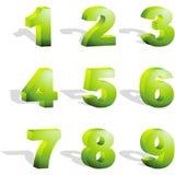 De pictogrammen van het aantal. Royalty-vrije Stock Afbeelding