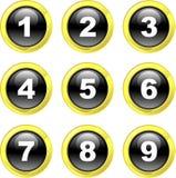 De pictogrammen van het aantal stock illustratie