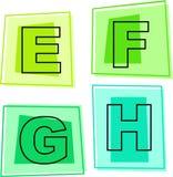 De pictogrammen van het alfabet stock illustratie