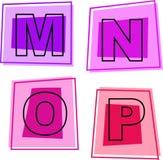 De pictogrammen van het alfabet Royalty-vrije Stock Afbeeldingen