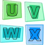 De pictogrammen van het alfabet Royalty-vrije Stock Foto