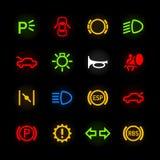 De pictogrammen van het autodashboard Royalty-vrije Stock Afbeelding