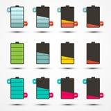 De Pictogrammen van het batterijleven Geplaatst Reeks Royalty-vrije Stock Fotografie