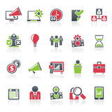 De pictogrammen van het bedrijfseconomieconcept Royalty-vrije Stock Foto