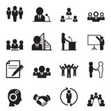 De pictogrammen van het bedrijfsideeconcept Stock Afbeelding