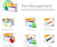 De pictogrammen van het Beheer van de website Stock Foto