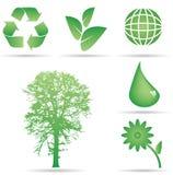 De Pictogrammen van het Behoud van de ecologie Stock Foto's