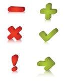 De pictogrammen van het bericht stock illustratie