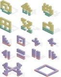 De pictogrammen van het blok Royalty-vrije Stock Fotografie