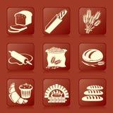 De pictogrammen van het brood Stock Fotografie
