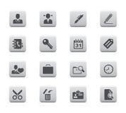 De pictogrammen van het bureau Stock Foto's