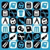 De pictogrammen van het bureau Royalty-vrije Stock Fotografie