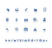 De pictogrammen van het bureau Stock Foto