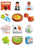 De pictogrammen van het casino Stock Fotografie