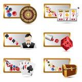 De Pictogrammen van het casino vector illustratie