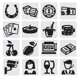 De pictogrammen van het casino Stock Afbeelding