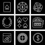 De pictogrammen van het casino Royalty-vrije Stock Foto