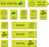 De Pictogrammen van het Centrum van Eco Royalty-vrije Stock Afbeelding