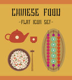 De pictogrammen van het Chineesevoedsel Royalty-vrije Stock Afbeelding