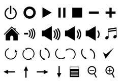 De pictogrammen van het controlebord Royalty-vrije Stock Afbeelding