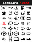 De pictogrammen van het dashboard vector illustratie
