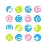 De pictogrammen van het de cirkelWeb van de lente Royalty-vrije Stock Foto